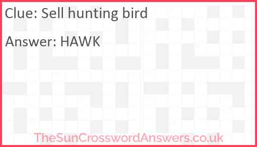 Sell hunting bird Answer