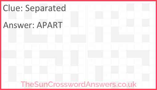 Separated Answer