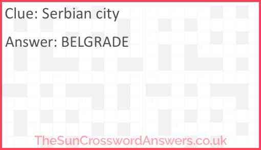 Serbian city Answer