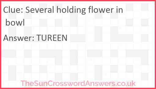 Several holding flower in bowl Answer