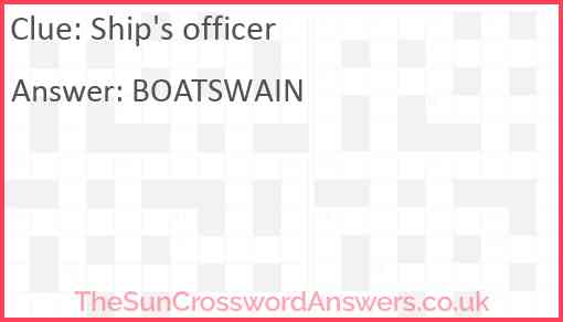 Ship's officer Answer