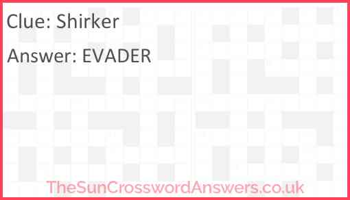 Shirker Answer