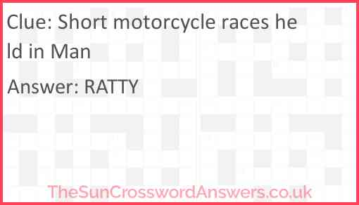 Short motorcycle races held in Man Answer