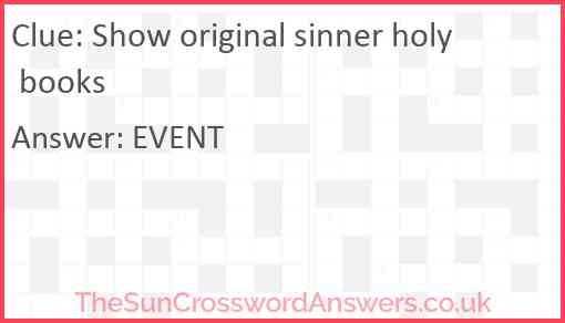 Show original sinner holy books Answer
