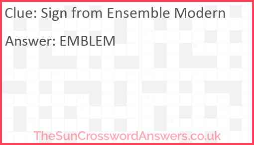 Sign from Ensemble Modern Answer
