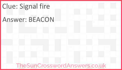 Signal fire Answer