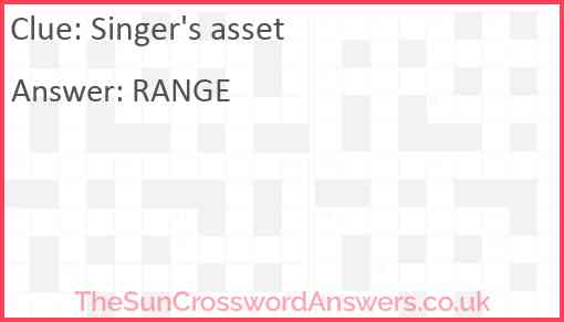 Singer's asset Answer