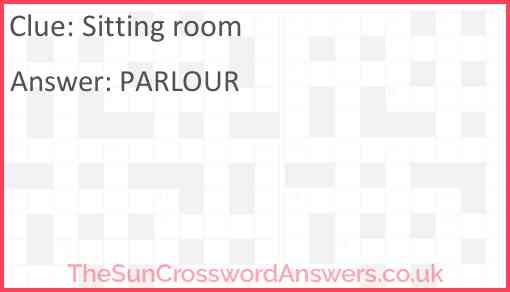 Sitting-room Answer