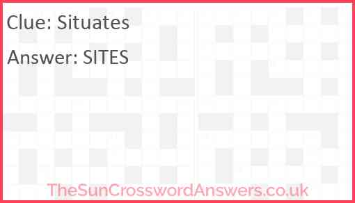 Situates Answer
