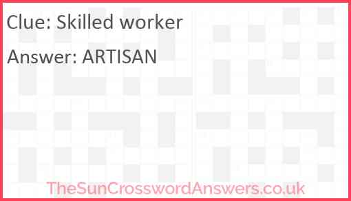 Skilled worker Answer