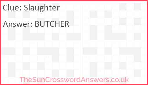 Slaughter Answer