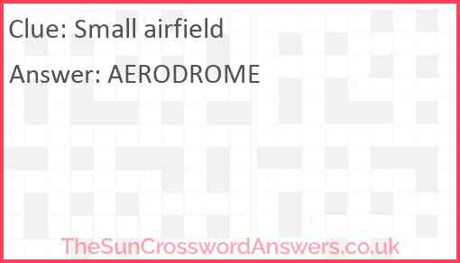 Small airfield Answer