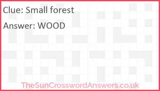 Small forest Answer