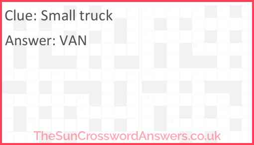 Small truck Answer