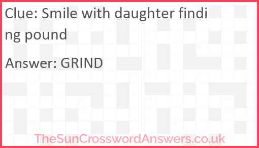 Smile with daughter finding pound Answer