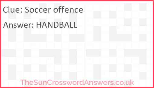 Soccer offence Answer