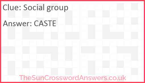 Social group Answer