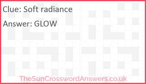 Soft radiance Answer