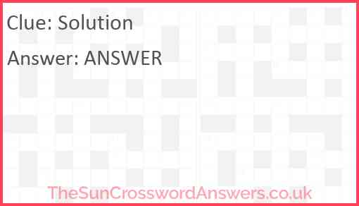 Solution Answer