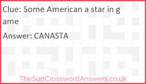 Some American a star in game Answer