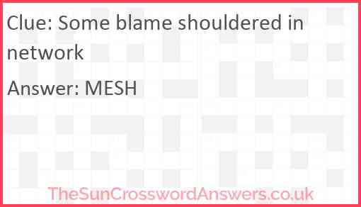 Some blame shouldered in network Answer
