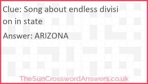 Song about endless division in state Answer