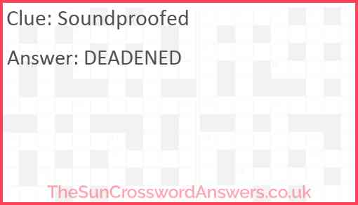 Soundproofed Answer