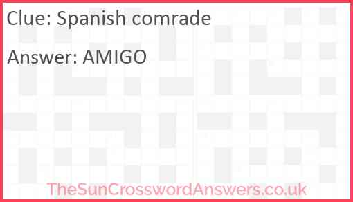 Spanish comrade Answer