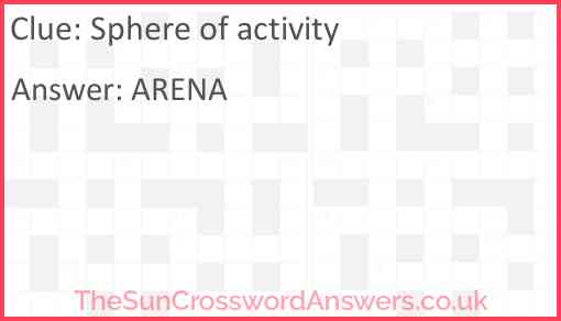 Sphere of activity Answer