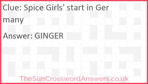 Spice Girls' start in Germany Answer