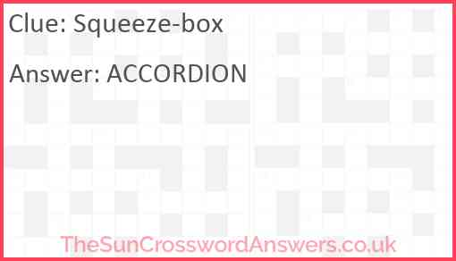 Squeeze-box Answer