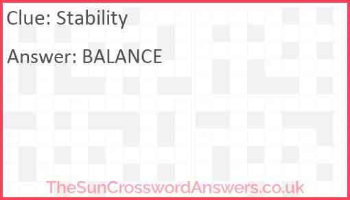 Stability Answer