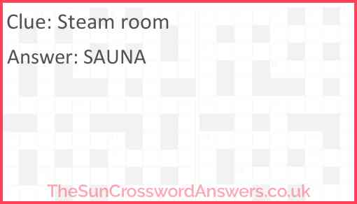 Steam room Answer