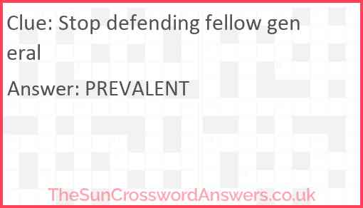 Stop defending fellow general Answer