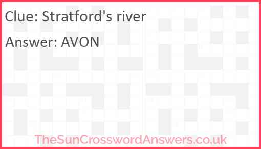 Stratford's river Answer