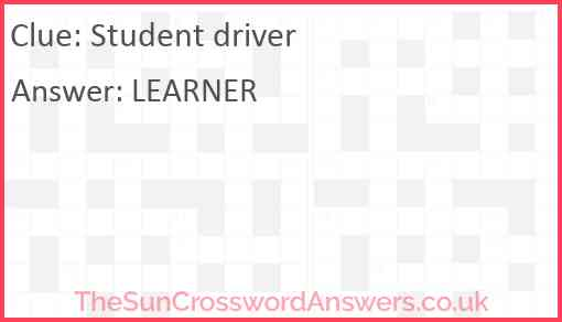 Student driver Answer