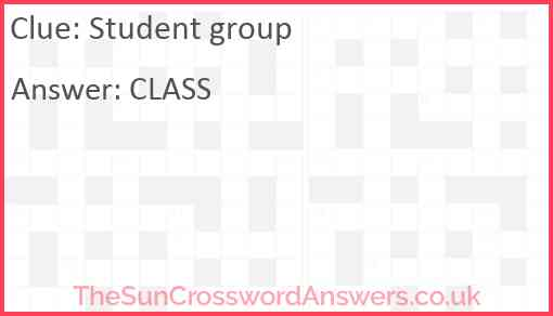 Student group Answer