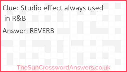 Studio effect always used in R&B Answer