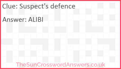 Suspect's defence Answer