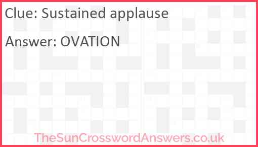 Sustained applause Answer