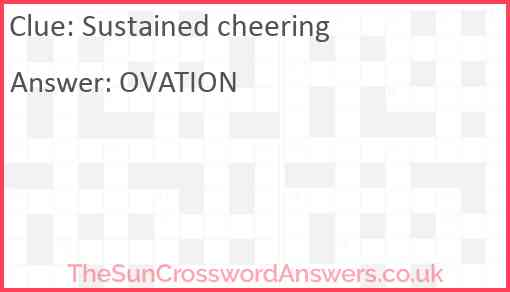 Sustained cheering Answer