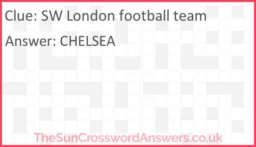 SW London football team Answer