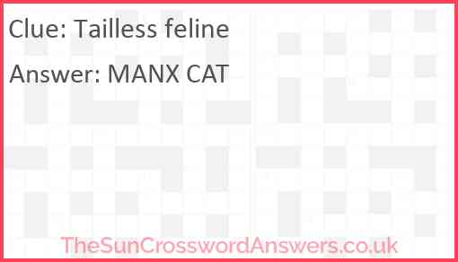 Tailless feline Answer