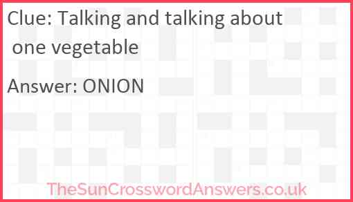 Talking and talking about one vegetable Answer