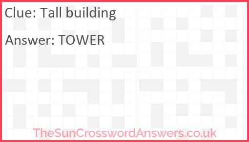 Tall building Answer