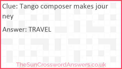 Tango composer makes journey Answer