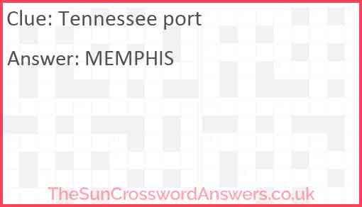 Tennessee port Answer