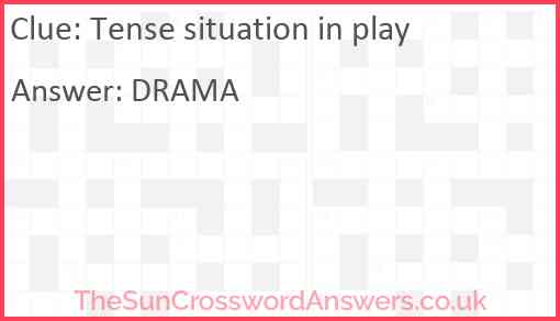 Tense situation in play Answer