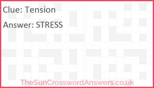 Tension Answer