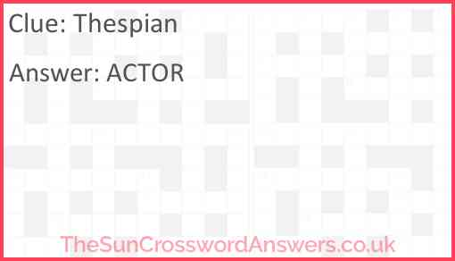 Thespian Answer